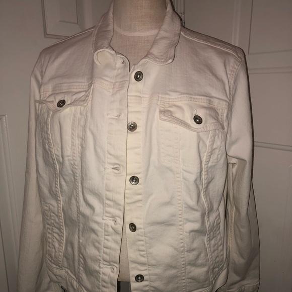 1edbd70d158b L.L. Bean Jackets & Blazers - LL Bean 1912 White Jean Jacket (XL)
